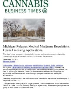 Microsoft Word - Cannabis Business Times MI Dec 19 2018